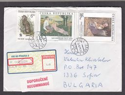 Czech Rep. - 04/1999, 37 Kc. - Painting, Animals WWF, R-letter Praha/Sofia - Lettres & Documents