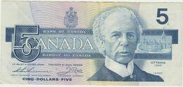5 DOLLARI CANADA 1986/1991 - Canada