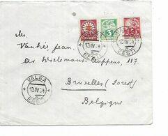 SH 0558. N° Yv. 53-54-127 VALGA 13.IV.34 S/Lettre Vers FOREST/BRUXELLES. TB - Estonia