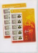 GREECE STAMPS ATHENS 2004:OLYMPIC TORCH RELAY(PART I) 8 SHEETLETS  25/3/04-MNH-COMPLETE SET - Estate 2004: Atene