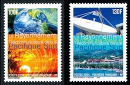 POLYNESIE 2004 - Yv. 717 Et 718 ** TB  Faciale= 1,93 EUR - Globe Terrestre, Antenne Parabolique (2 Val)  ..Réf.POL25284 - Polynésie Française