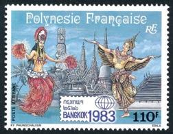 POLYNESIE 1983 - Yv. PA 177 **   Faciale= 0,92 EUR - Expo Phil. Intern. Bangkok' 1983  ..Réf.POL25216 - Poste Aérienne