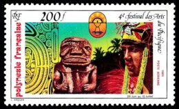 POLYNESIE 1985 - Yv. PA 187 **   Faciale= 1,68 EUR - Festival Des Arts Du Pacifique  ..Réf.POL25222 - Poste Aérienne