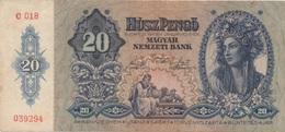 Hongrie : 20 Pengo 1941 Bon état - Hongrie