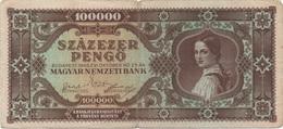 Hongrie : 100000 Pengo 1945 Moyen état - Hungary