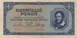 Hongrie : 1 Million Pengo 1945 Moyen état - Hongrie