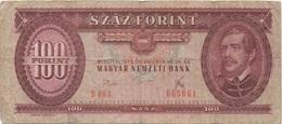 Hongrie : 100 Forint 1975 Mauvais état - Hungary