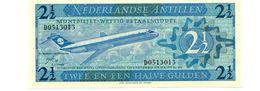 NEDERLANDSE ANTILLEN 2 1/2 GULDEN PICK 21a UNCIRCULATED - Antilles Néerlandaises (...-1986)