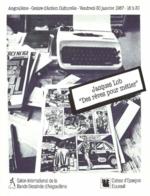 """BD - Invitation : Exposition Jacques Lob """"Des Rêves Pour Métier""""- Angoulême 30 Janvier 1987 - Livres, BD, Revues"""
