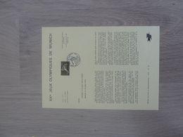 MUNICH - Vingtième Jeux Olympiques - Editions Ministère Des Postes Et Télécommunications - Année 1972 - - Summer 1972: Munich