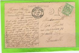 Fantasiekaart Met OCB 83 - Afstempeling CALLOO - COBA 8 - 1893-1907 Wappen