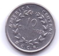 COSTA RICA 1958: 10 Centimos, KM 185.1a - Costa Rica