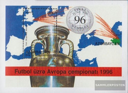 Aserbaidschan Block25 (complete Issue) Unmounted Mint / Never Hinged 1996 Football - Aserbaidschan