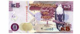 ZAMBIA 5 KWACHA PICK 50a UNCIRCULATED - Zambia