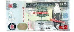 ZAMBIA 2 KWACHA PICK 49a UNCIRCULATED - Zambia