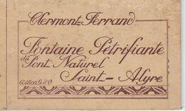 Reste De Carnet: 9 CPA Fontaine Pétrifiante Saint Alyre Clermont-Ferrand - Clermont Ferrand