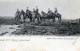 Bourg Léopold : Officiers Militaires à Cheval (CP Animée Non Affranchie Circulé 1904 Vers Bruges (timbre Taxe + Cachet) - Leopoldsburg (Camp De Beverloo)