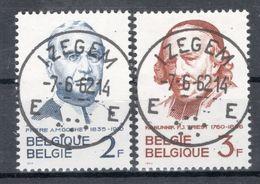 BELGIE: COB 1214/1215 Zeer Mooi Gestempeld. - Oblitérés