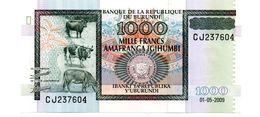 BURUNDI 1000 FRANCS PICK 39a UNCIRCULATED - Burundi