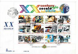 SAN MARINO 2000 - XX SECOLO -  FDC - FDC