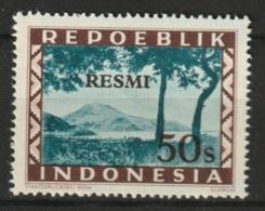 Repoeblik Indonesia 1948 Service - RESMI 50 Ongestempeld. See Description - Indonesia