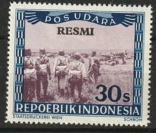 Repoeblik Indonesia 1948 Service - POS UDARA RESMI 30S Ongestempeld. - Indonesia