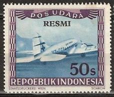 Repoeblik Indonesia 1948 Service - POS UDARA RESMI 50S Ongestempeld. - Indonesia