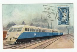 Thionville Train Bugatti Timbré Thionville Metropole Du Fer - Thionville