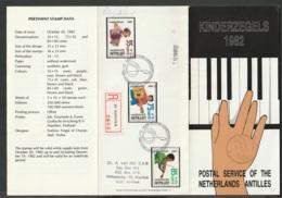 Ned Antillen FDC 1982 Voor Het Kind -  Registered Mail St. Maarten.  Piano - Niederländische Antillen, Curaçao, Aruba
