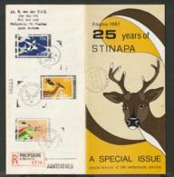 Ned Antillen FDC 1987  Fauna 1987 - 25 Years Of Stinapa Registered Mail St. Maarten. Sports - Niederländische Antillen, Curaçao, Aruba