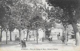 07)  AUBENAS  - Place Du Champ De Mars Statue J. Mathon - Aubenas
