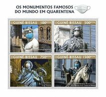 GUINEA BISSAU 2020 - JS Bach, Monuments In Quarantine. Official Issue [GB200322a] - Music