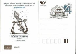 CDV A 53 Czech Republic - Cosmos Exhibition 1999 Cancelled Telescope Planetarium - Astronomy