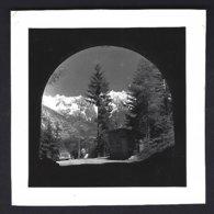 Italie, Frontière,descente Sur Aosta+automobile époque . Photo Véritable Année 50 - Luoghi