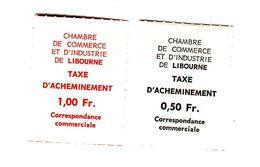 Paire Des Timbres De Gréve Libourne 1968 - Grève