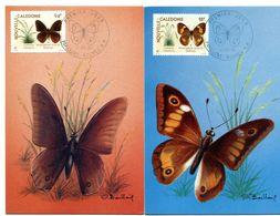 Nouvelle-Calédonie Yvert PA 265 & 266 Papillons - R 5937 - Cartes-maximum