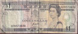 FIJI 1993 Banknote $1 Folded D/20572639 - Fiji