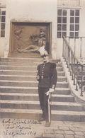 Carte Photo Militaria  Guerre Militaire Saint Cyrien Ecole Spéciale Militaire Cour Wagram St Cyr 28/01//1914 Réf 868 - Regiments