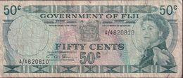FIJI 1971 50c Banknote A/4620810 - Fiji