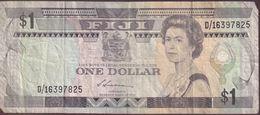 FIJI 1987 $1 Banknote D/16397825 - Fiji