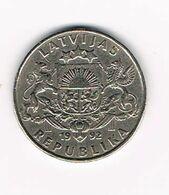 &  LETLAND  1 LATS 1992 - Lettonie
