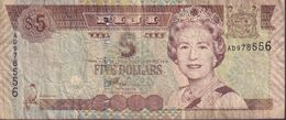 FIJI 2002 $5 Banknote AD978556 - Fiji