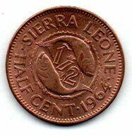 Sierra Leone /  1/2 Cent 1964 / SUP - Sierra Leone