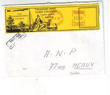 Sur Lettre Avec Timbres De Gréve Bastia 1997 - Strike Stamps