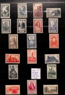 D - [821552]B/TB//MIX/MIX-c:35e-France 1946-47 - Lot **/mnh Et */mh , Architecture - Collections