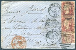1879 GB Dereham 245 Duplex Cover - France. Lyon A Marseille Railway - Covers & Documents