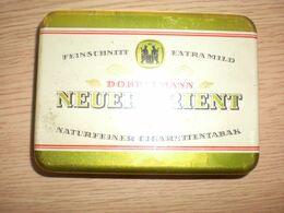 Old Tin Box Feinschnitt Extra Mild Dobbelmann Neuerorient 50 Gramm Naturfeiner Cigarettentabak - Empty Tobacco Boxes
