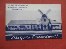 Dutch Land  Wind Mill  Ice Cream  New Jersey > Elizabeth>   Ref 4232 - Elizabeth