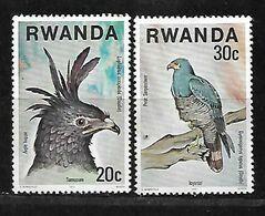 RWANDA 1977 BIRDS  PAIR MNH - Rwanda