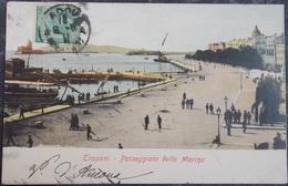 ITALY ITALIA Cartolina 1911 TRAPANI Passeggiata Della Marina - Sicilia - Trapani